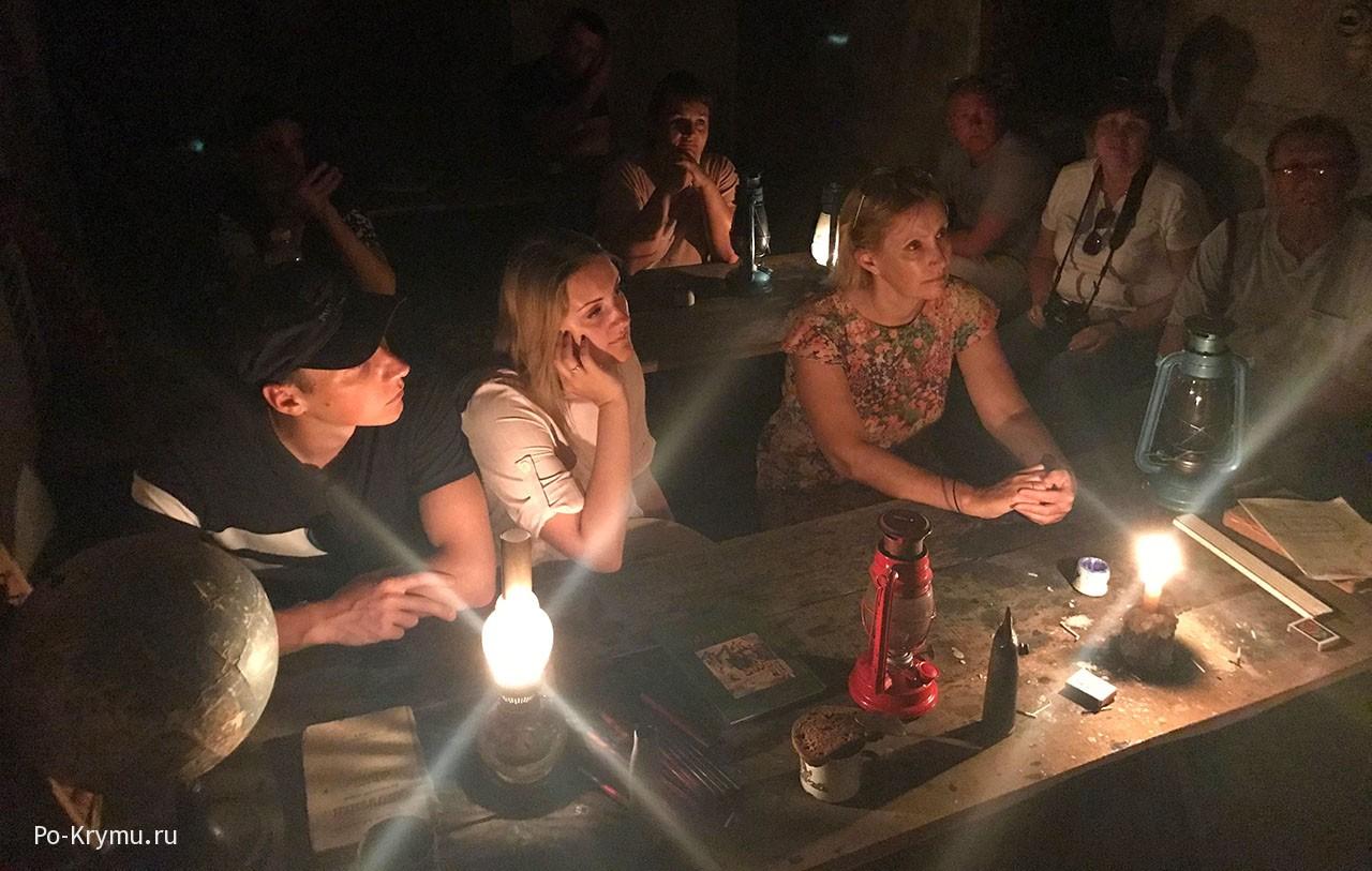 Класс подземной школы Севастополя