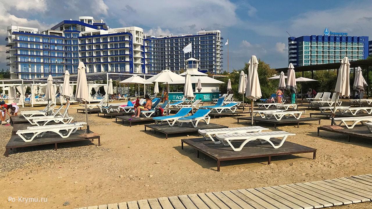 пляжная инфраструктура в Севастополе