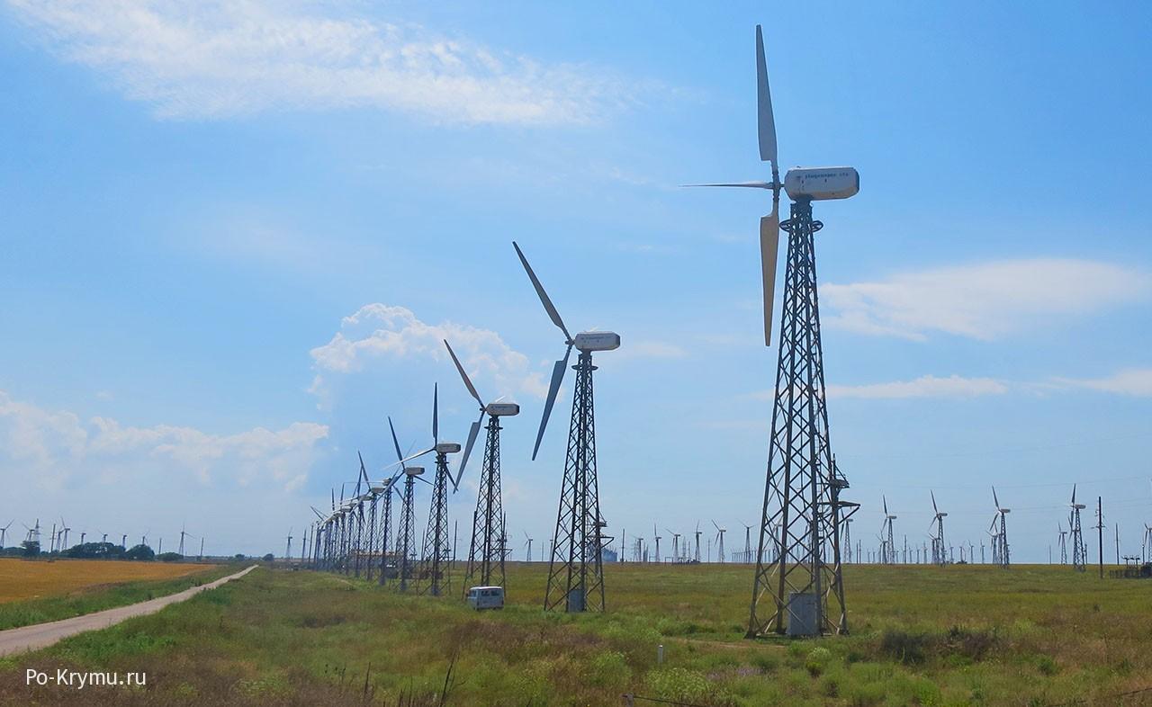 Ветряки в Мирном, Крым