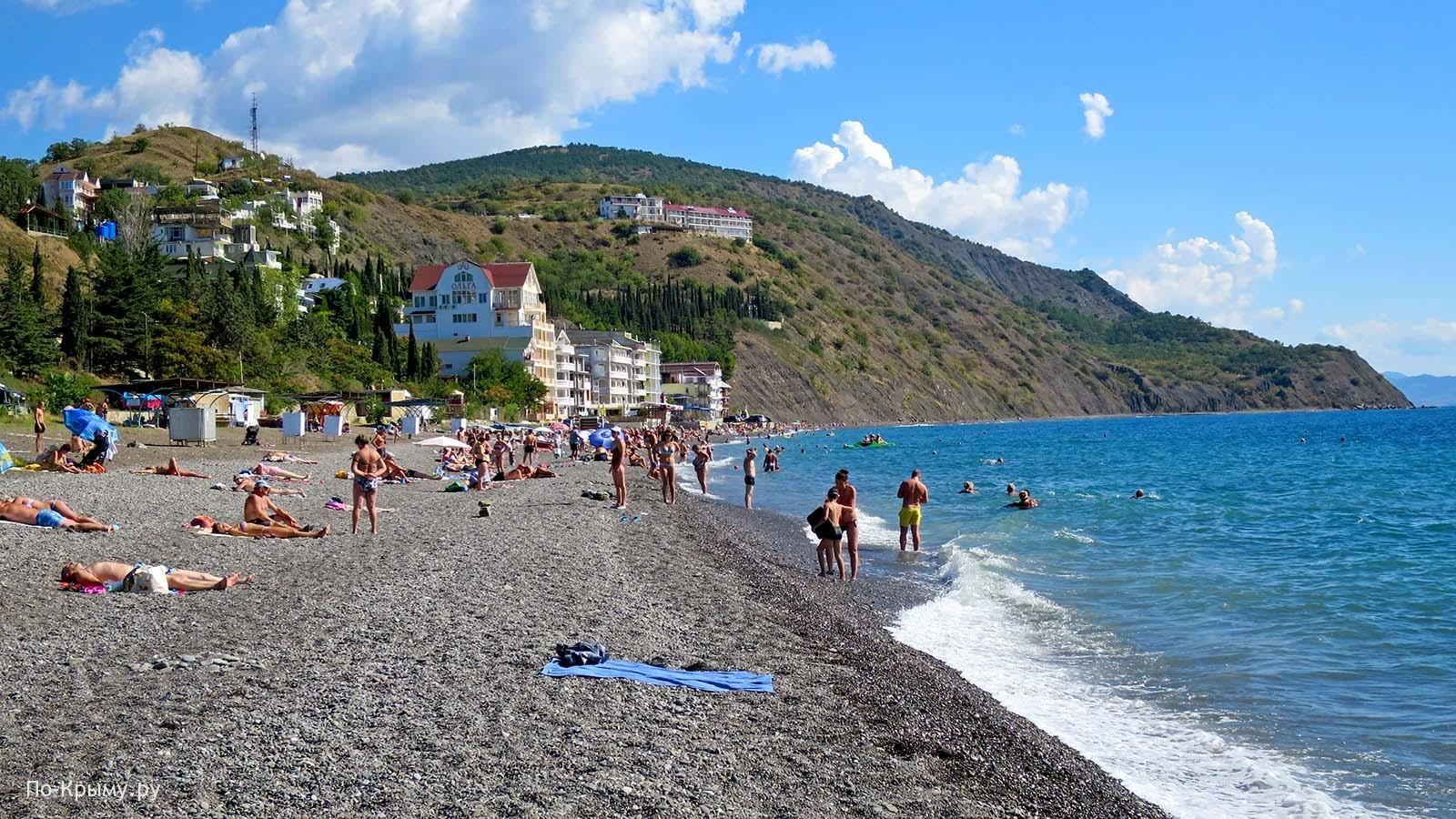 Песчано-галечные пляжи Южного Крыма