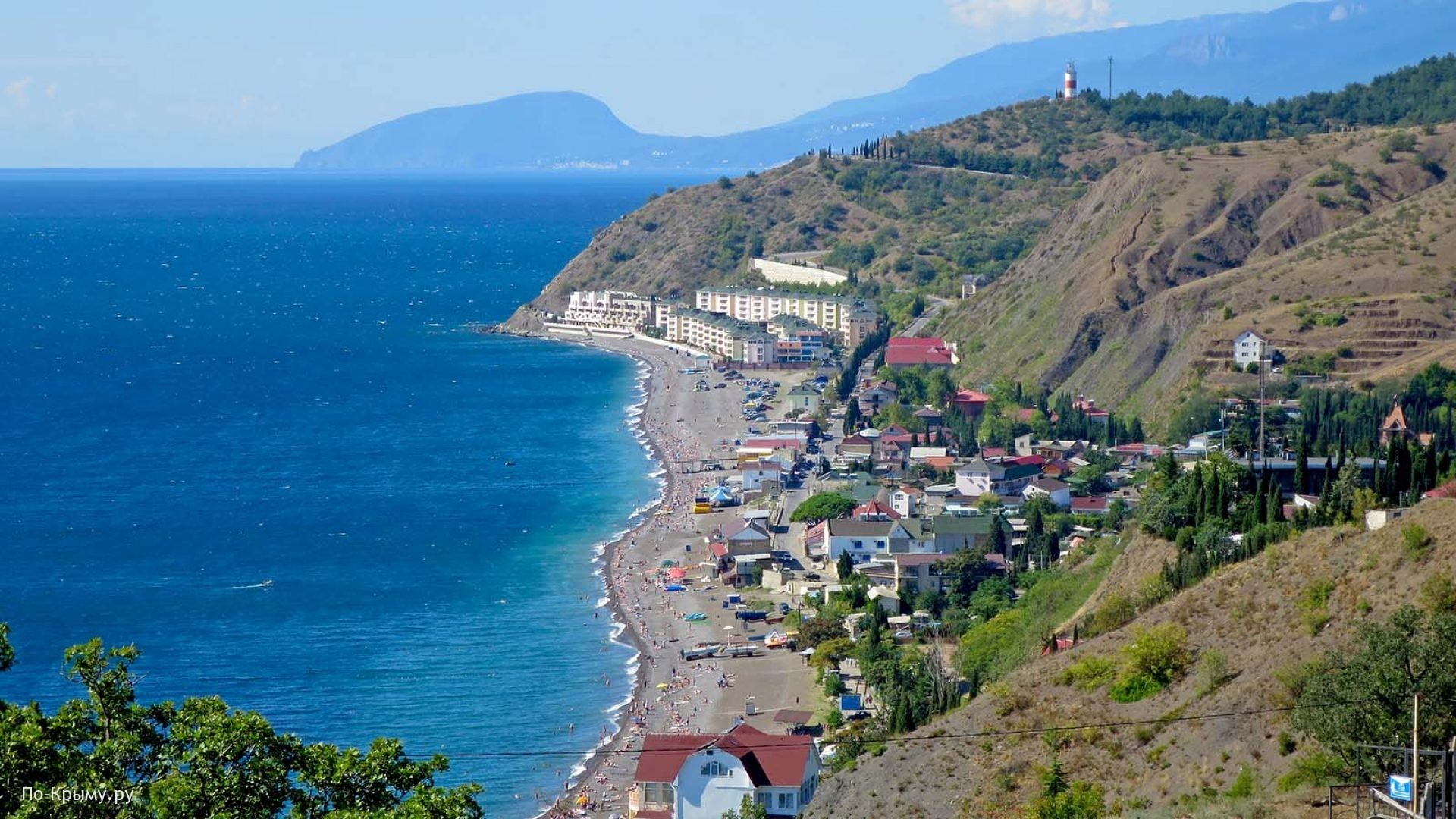 Курортный поселок на Южном берегу Крыма