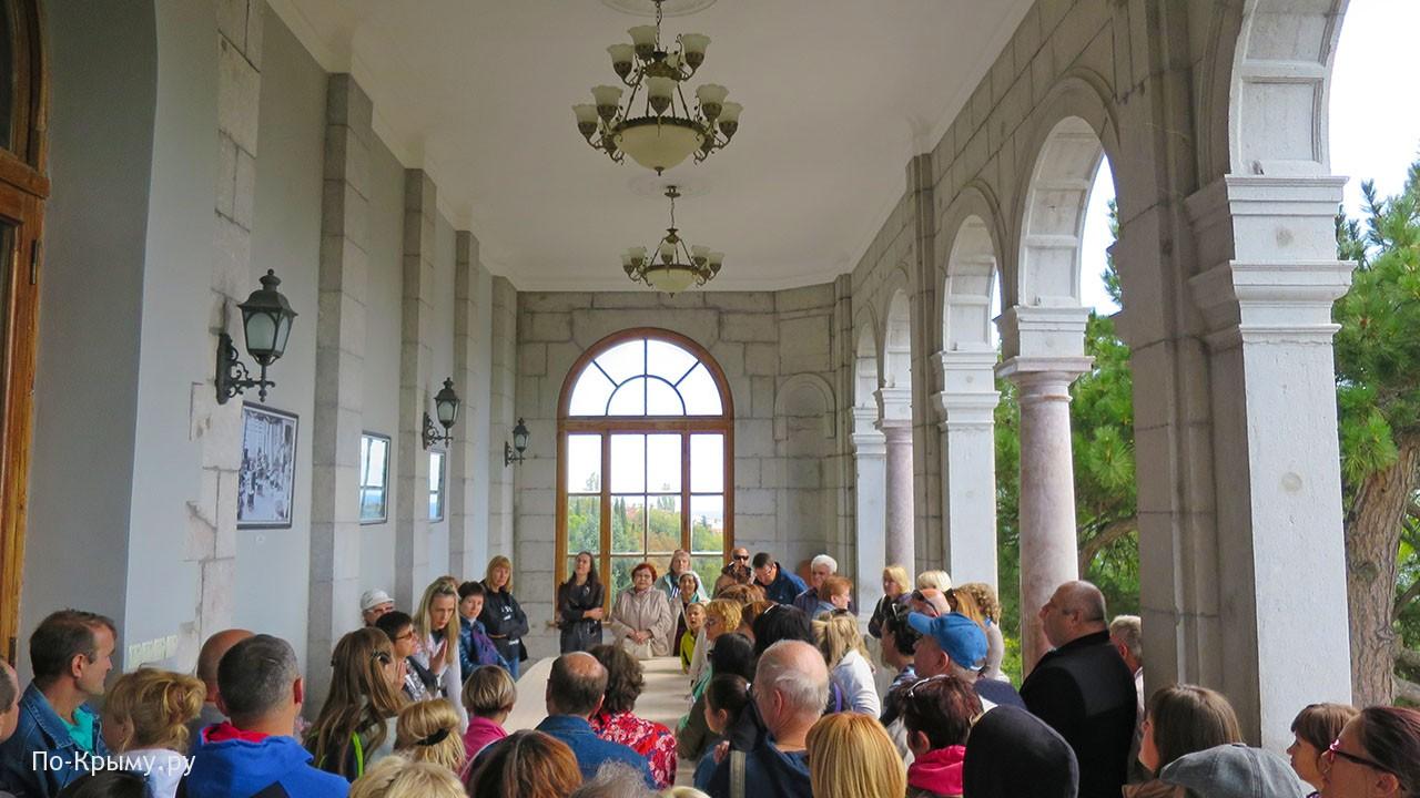 Дворец Юсуповых в Крыму, терраса