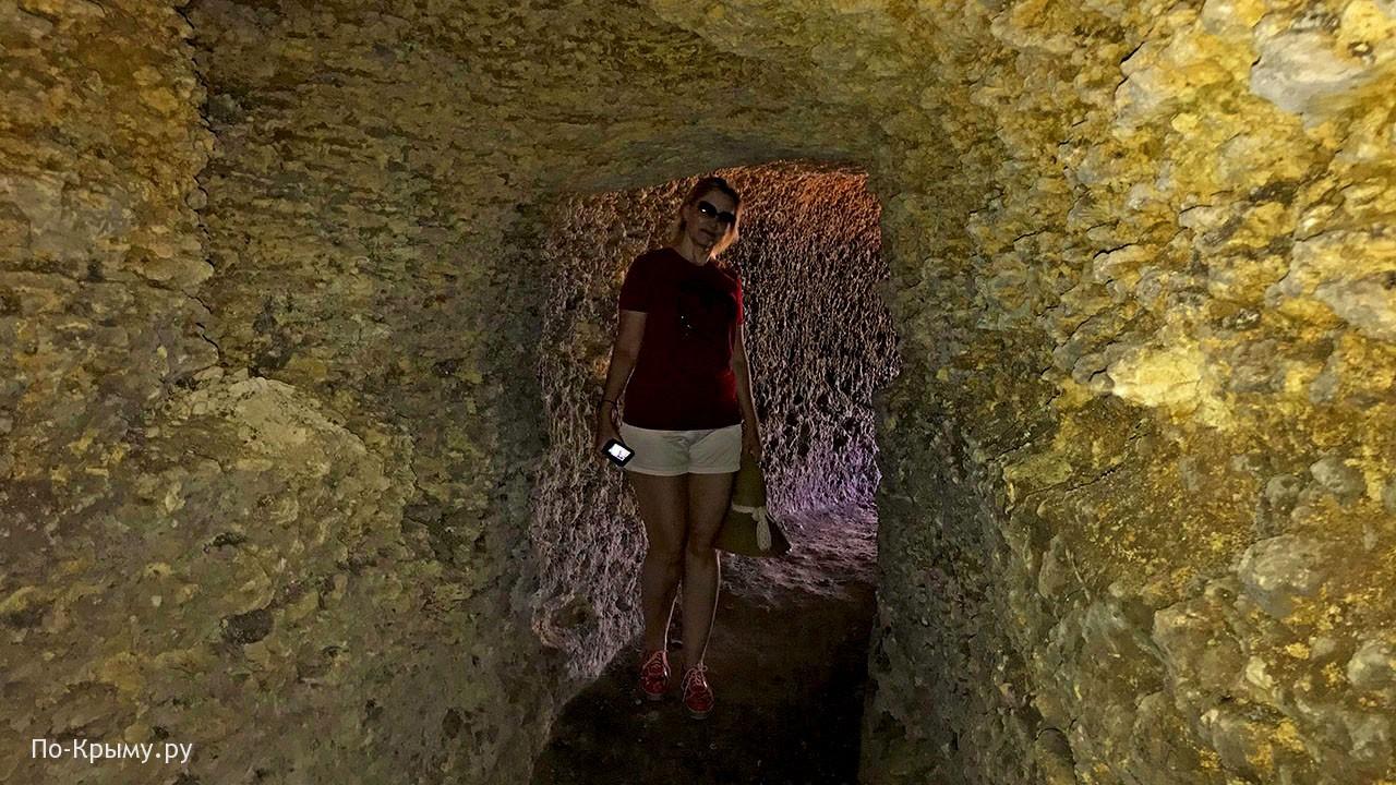 Берманское античное городище - подземный ход