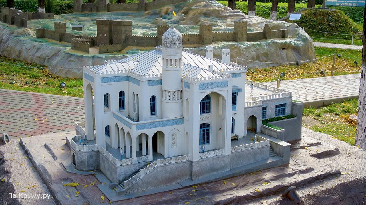 Макет виллы «Мечта» в парке миниатюр Бахчисарая