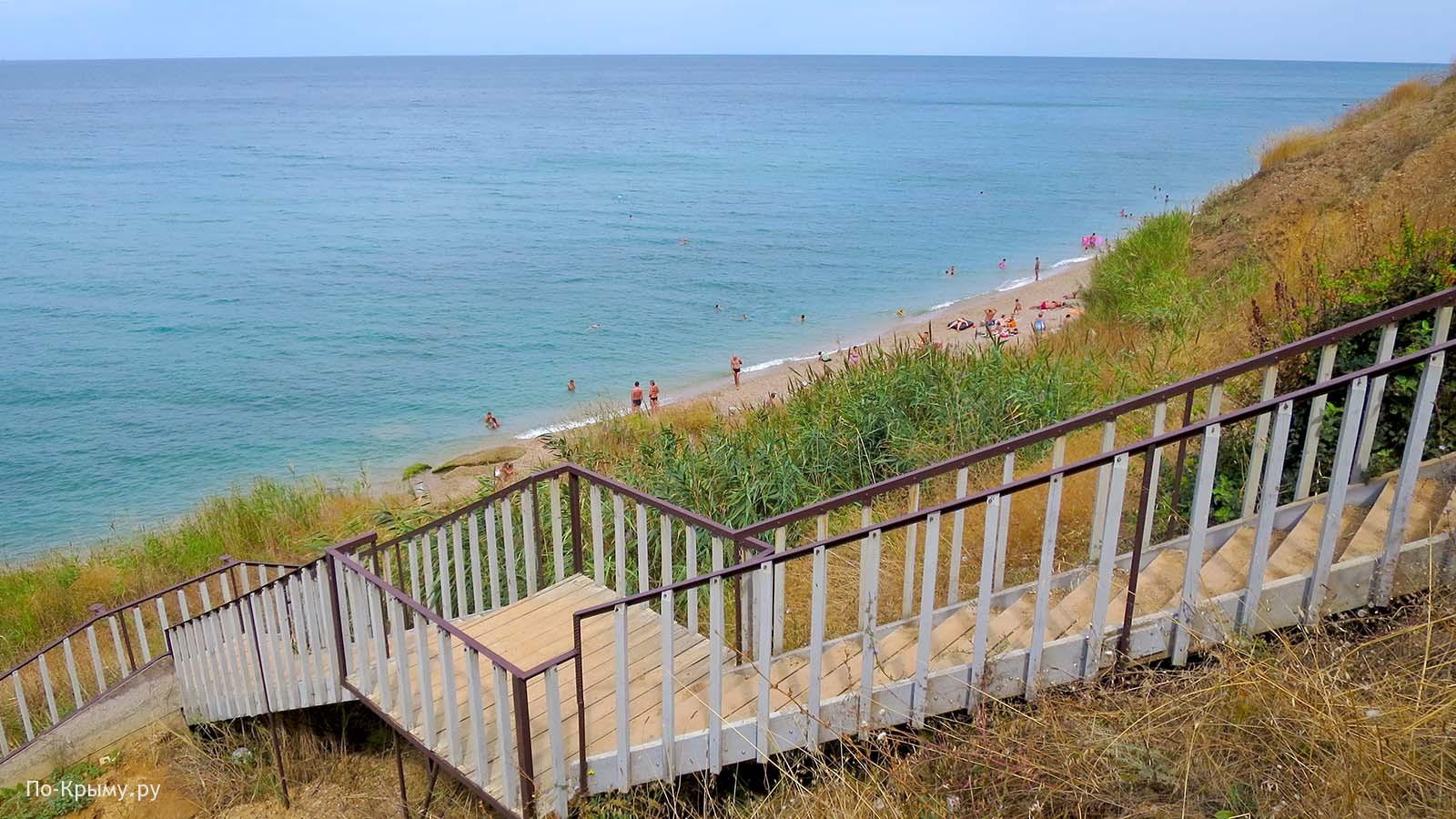 Лестница к морю у базы отдыха Романтик