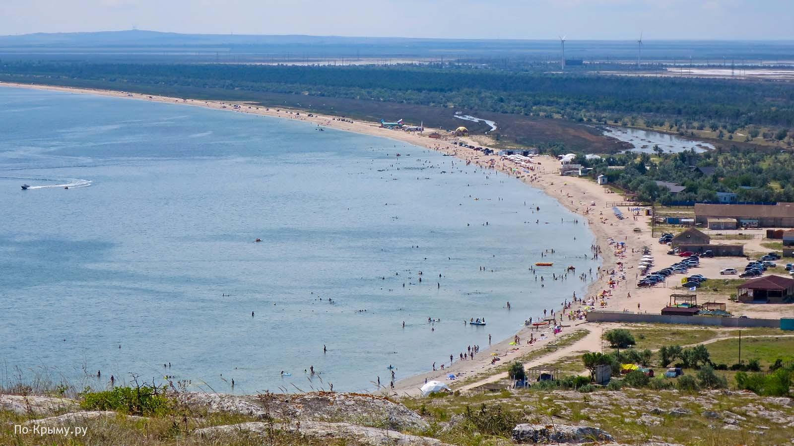 Шикарный пляж поселка Мысовое на Азовском море