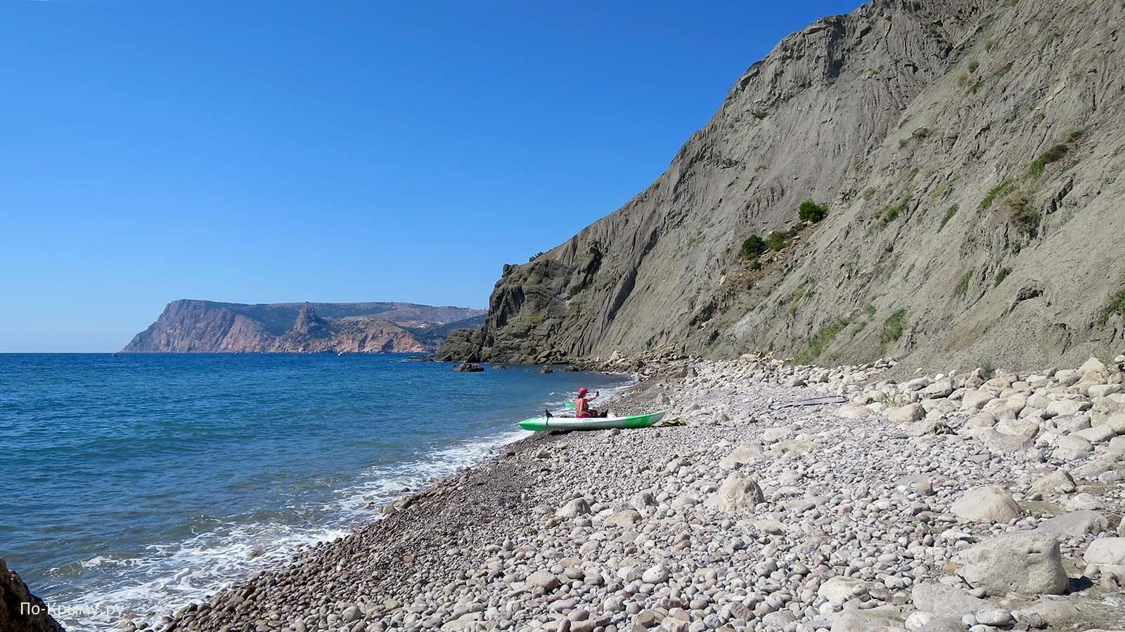 Голый пляж, побережье Балаклавы