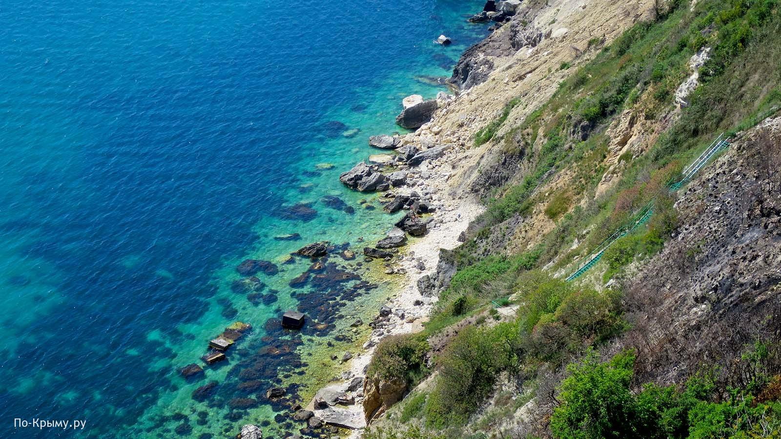 Скалистый пляж Каравелла, Фиолент, Крым