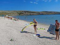 Просторный пляж у мыса Казантип