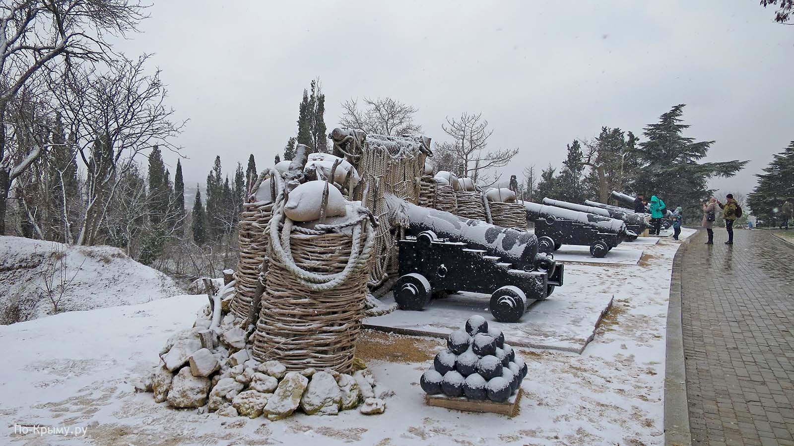Памятники Крымской войны в Крыму - батарея No 17 Сенявина