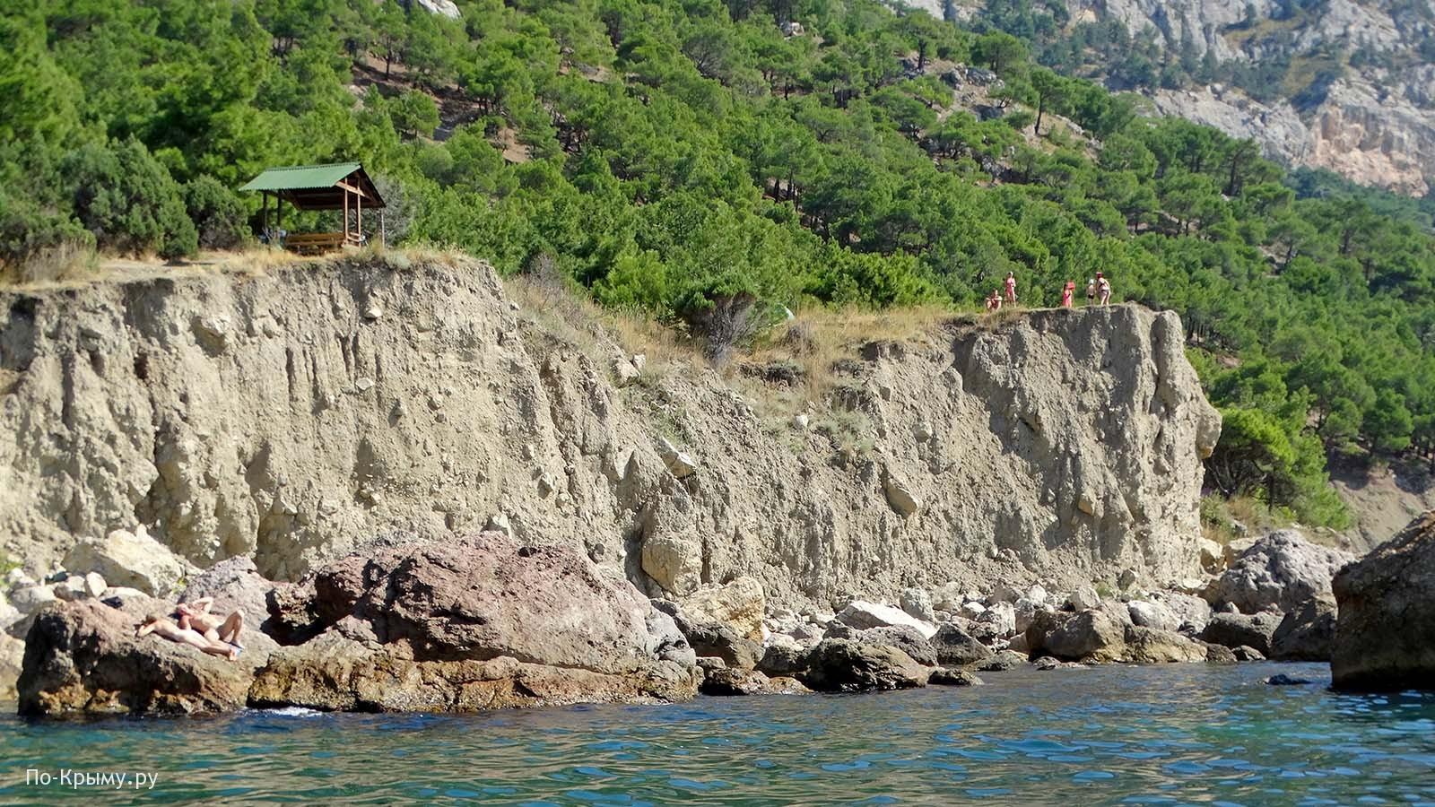 Нудисты на пляже Блуждающий, Инжир, Севастополь