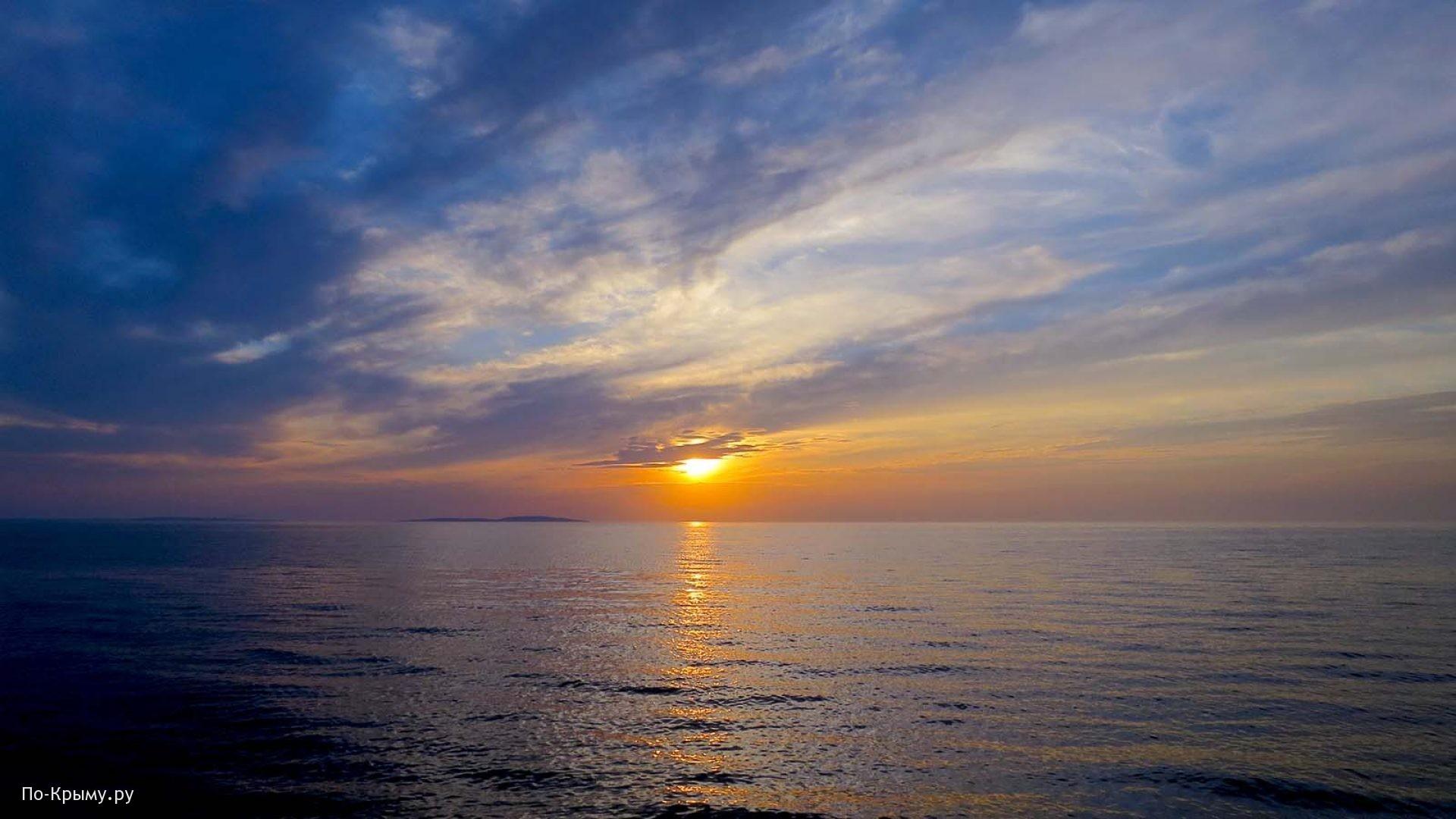 Закат на Казантипском заливе