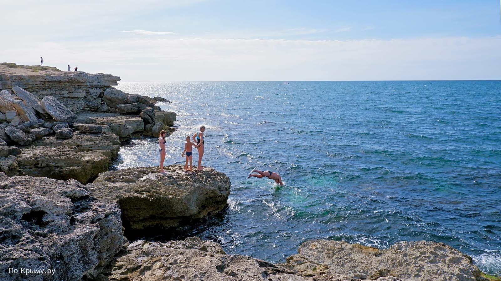 Черное море, Тарханкутский полуостров
