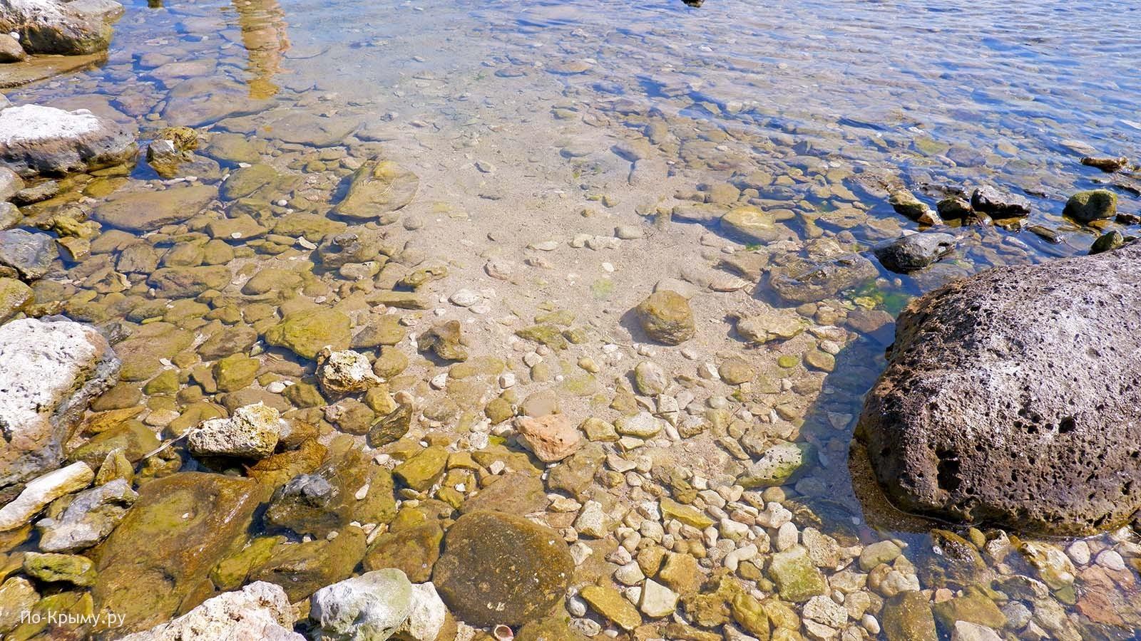 Тарханкутское побережье, вода в море