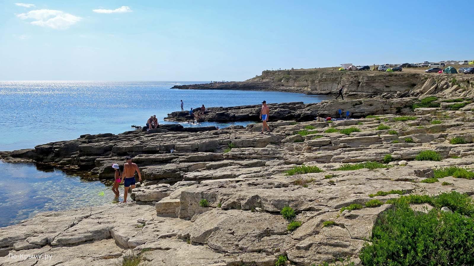 Скалистые пляжи Тарханкутского полуострова