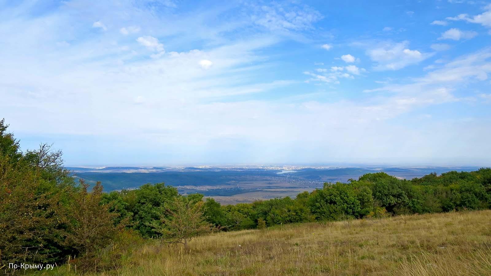 Вид с Чатырдага на Симферополь