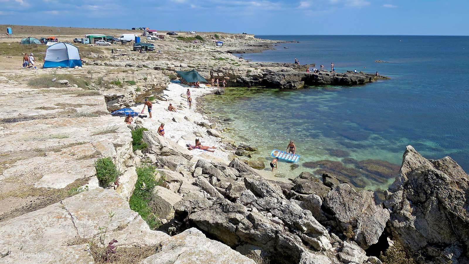 Палатки – самый дешевый отдых в Крыму, Тарханкут