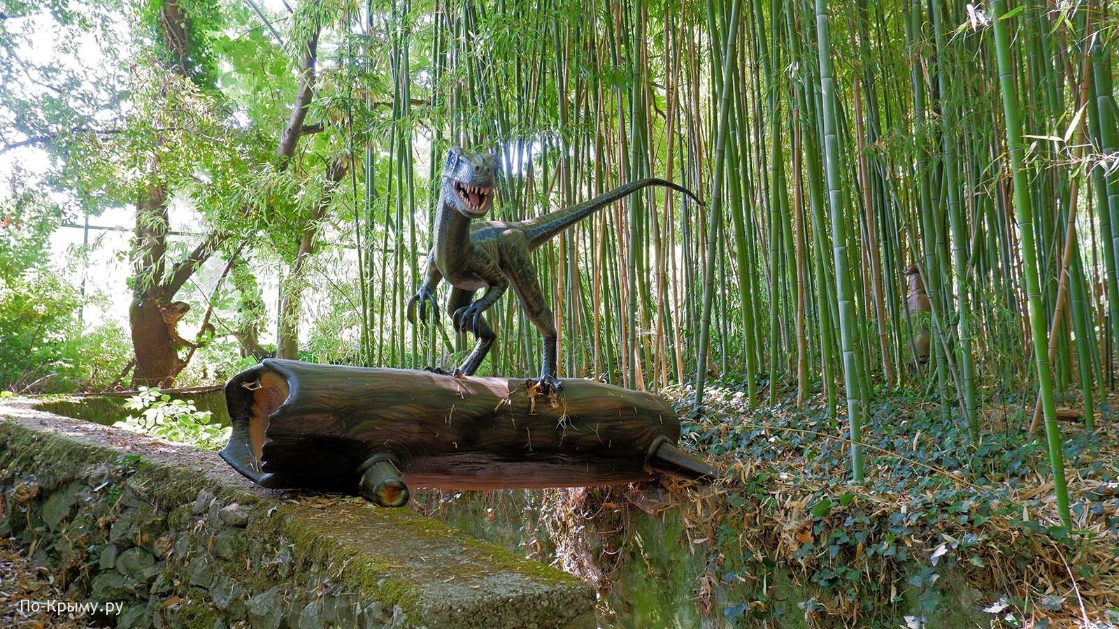 Приморский парк с динозаврами в Никитском ботаническом саду