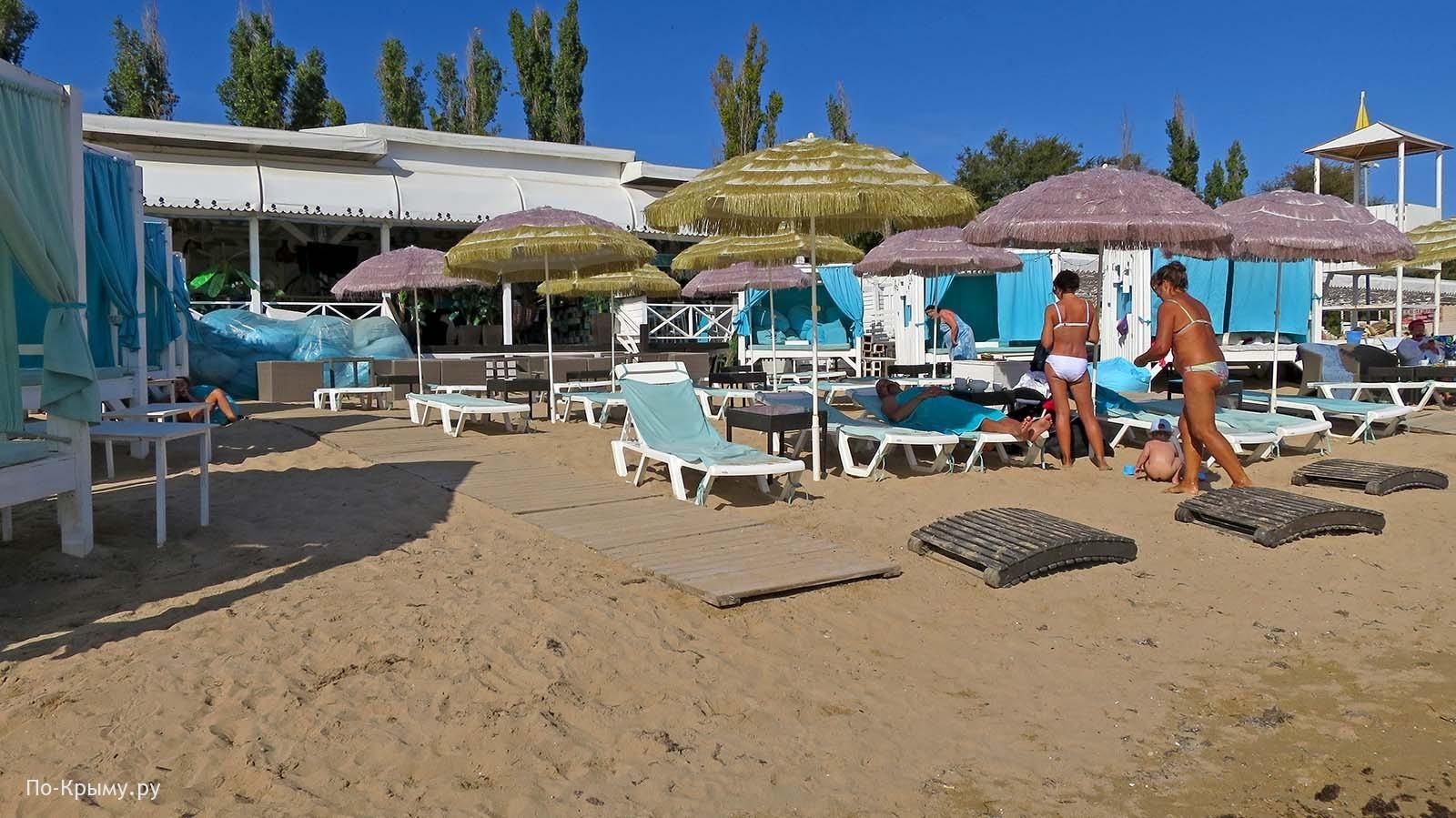 Пляж «Горький» в Евпатории, Крым