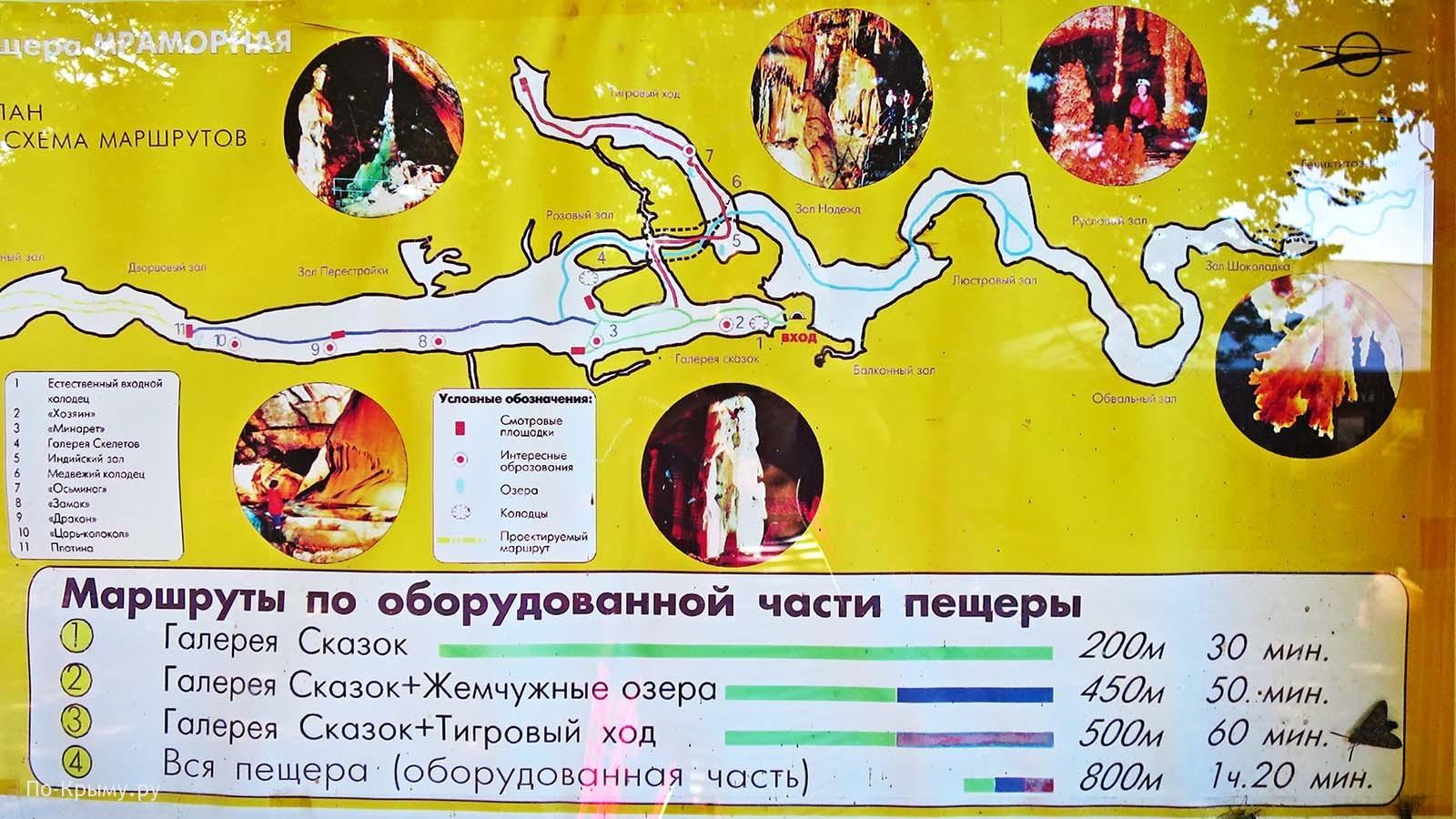 Цены в Мраморной пещере, официальный сайт, маршруты
