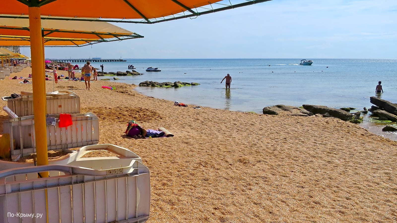 Какой берег на пляже №117 в Береговом, Феодосия