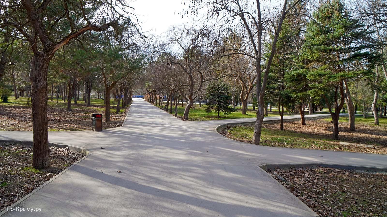 Дорожки в парке культуры и отдыха им. Гагарина