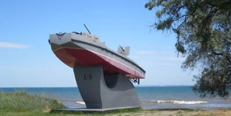 Пляж в Героевском под Керчью
