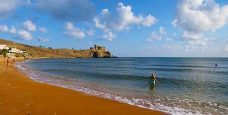 Пляжи поселка Курортное на Азовском море
