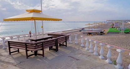 Пляж РК Солнышко в Евпатории