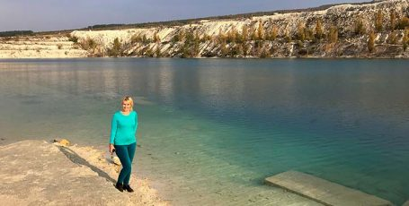 Мраморное озеро в Скалистом